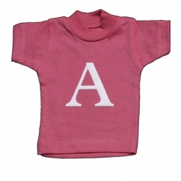 Lettershirts: Roze/Blauw A